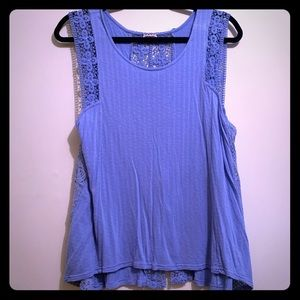 Eyeshadow Cornflower Blue Lace Tank Top | XL